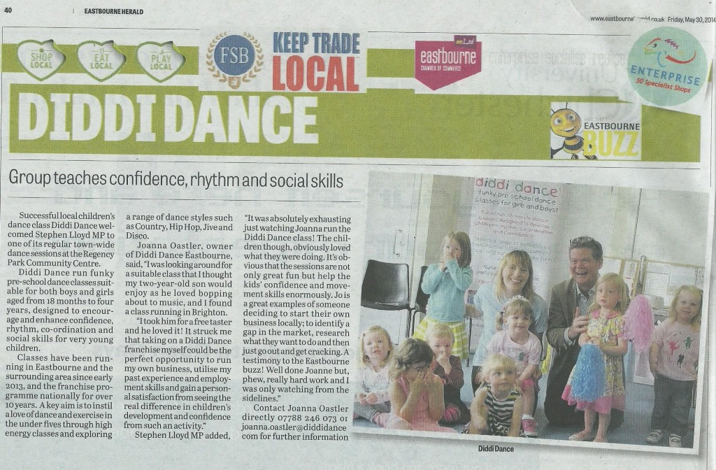 diddi dance Eastbourne article