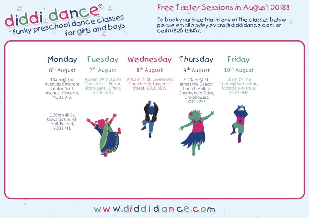 toddler preschool dance class activity York selby ryedale selby